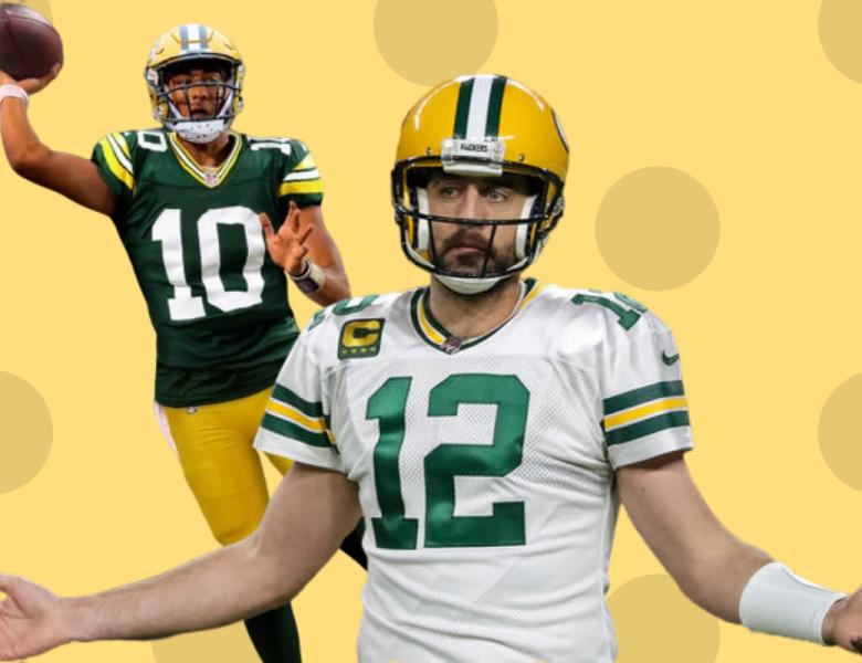 Jordan Love Aaron Rodgers Green Bay Packers